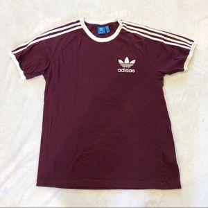 Adidas | Striped Logo Detail T-shirt